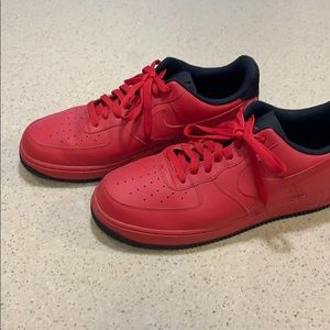 Red Nike AirForce1's size 11
